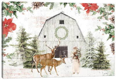 Wooded Holiday I Canvas Art Print