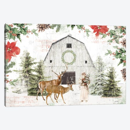 Wooded Holiday I Canvas Print #KPE41} by Katie Pertiet Canvas Wall Art