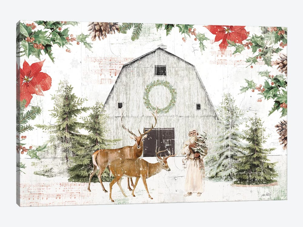 Wooded Holiday I by Katie Pertiet 1-piece Art Print