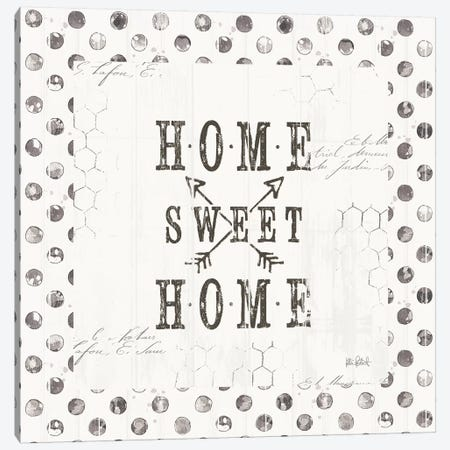 Farmhouse Fresh 01A Home Sweet Home Canvas Print #KPE49} by Katie Pertiet Canvas Art