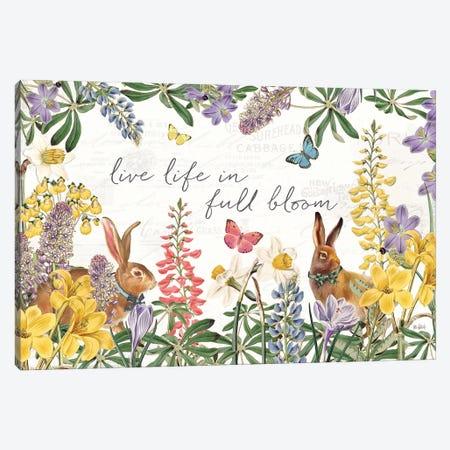 Easter Garden I Bow Tie Canvas Print #KPE57} by Katie Pertiet Canvas Artwork