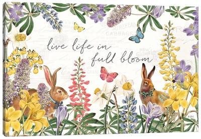 Easter Garden I Bow Tie Canvas Art Print