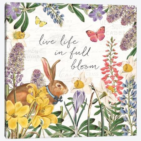 Easter Garden II Bow Tie Canvas Print #KPE58} by Katie Pertiet Art Print