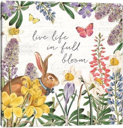Easter Garden II Bow Tie Canvas Art Print