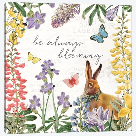Easter Garden III Bow Tie Canvas Print #KPE59} by Katie Pertiet Canvas Art Print