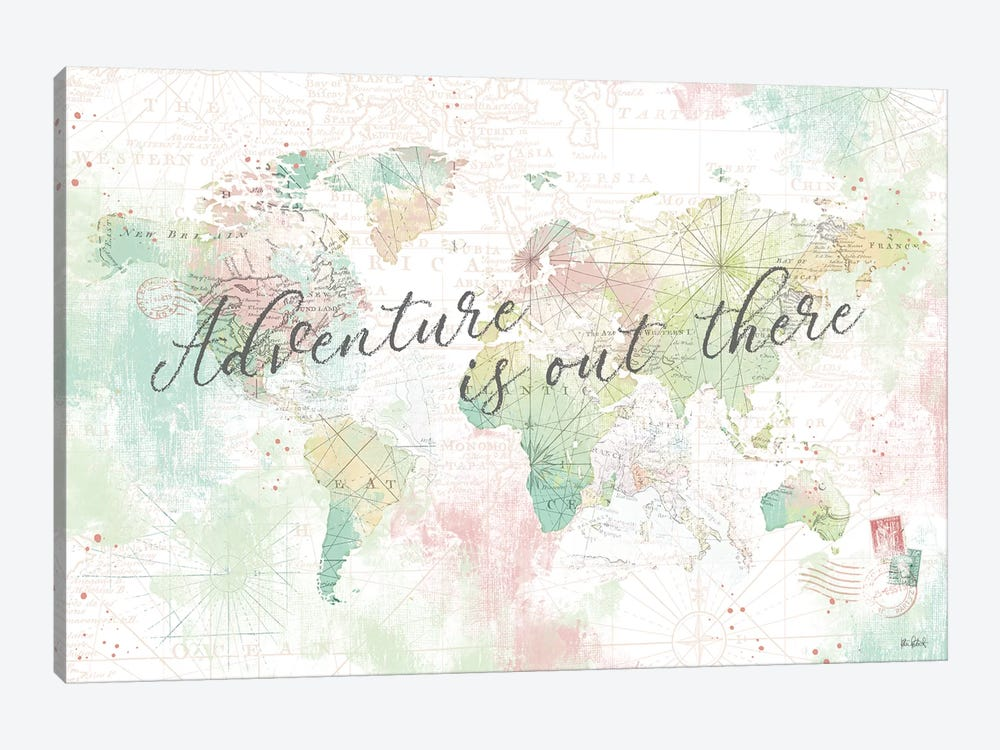 World Adventure I by Katie Pertiet 1-piece Canvas Art Print