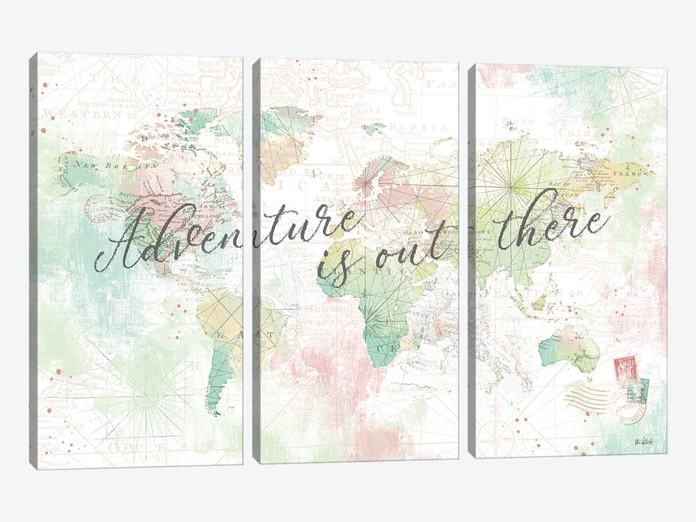 World Adventure I 3-piece Canvas Art Print