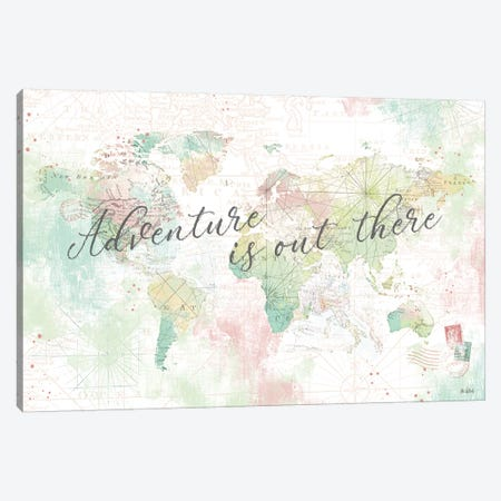 World Adventure I Canvas Print #KPE5} by Katie Pertiet Canvas Artwork