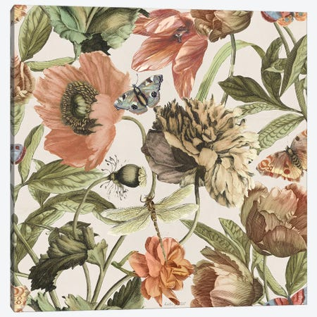 Antiquarian Blooms Pattern IA Canvas Print #KPE62} by Katie Pertiet Canvas Wall Art