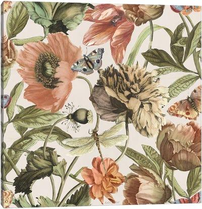 Antiquarian Blooms Pattern IA Canvas Art Print