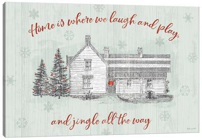 Farmhouse Christmas I Canvas Art Print