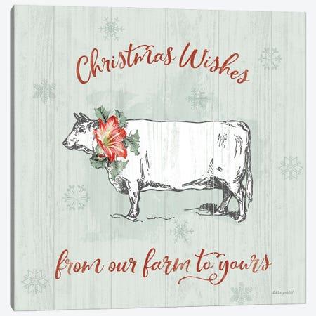 Farmhouse Christmas III Canvas Print #KPE69} by Katie Pertiet Canvas Artwork