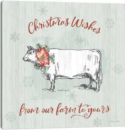 Farmhouse Christmas III Canvas Art Print