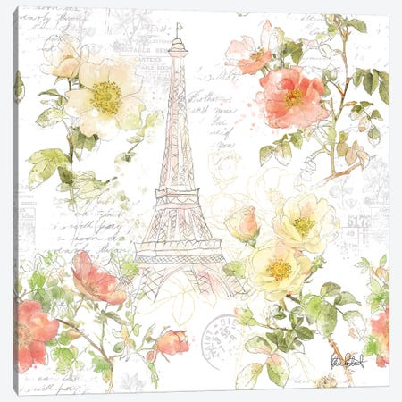 Painting Paris I Canvas Print #KPE6} by Katie Pertiet Canvas Artwork