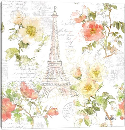 Painting Paris I Canvas Art Print