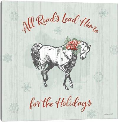 Farmhouse Christmas IV Canvas Art Print