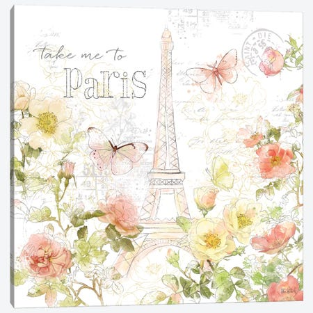Painting Paris II Canvas Print #KPE7} by Katie Pertiet Canvas Wall Art