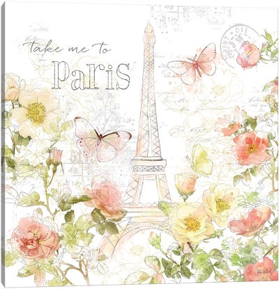 Painting Paris II Canvas Art Print