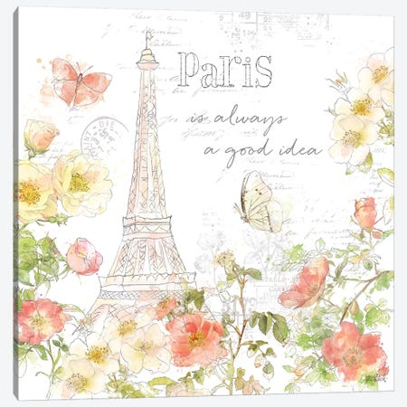Painting Paris III Canvas Print #KPE8} by Katie Pertiet Canvas Art Print