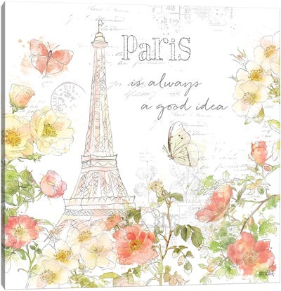 Painting Paris III Canvas Art Print