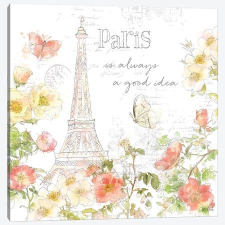 Painting Paris III Canvas Print #KPE8} by Katie Pertiet Canvas Art Print