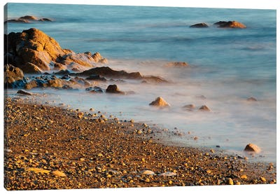 Seascape With Long Exposure At Browning Beach, Sechelt, British Columbia, Canada Canvas Art Print