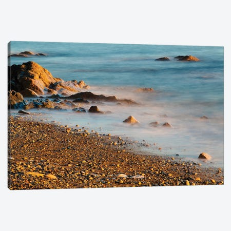 Seascape With Long Exposure At Browning Beach, Sechelt, British Columbia, Canada Canvas Print #KPI10} by Kristin Piljay Canvas Print
