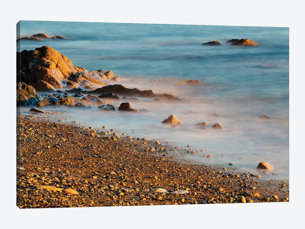 Seascape With Long Exposure At Browning Beach, Sechelt, British Columbia, Canada by Kristin Piljay 1-piece Canvas Print
