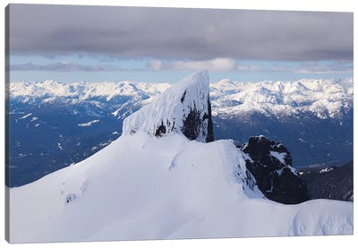 Aerial View Of Black Tusk Near Whistler, British Columbia, Canada Canvas Art Print