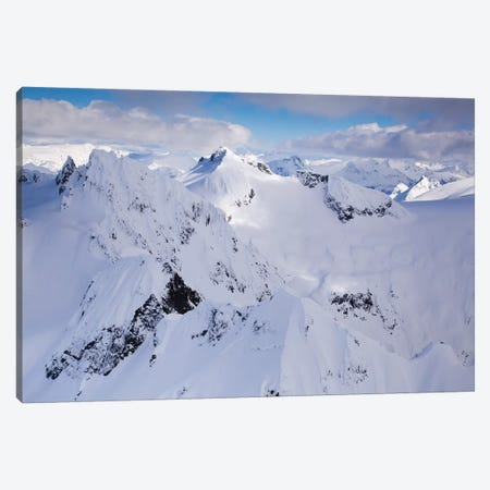 Aerial View Of Deep Snow In The Coast Mountains, Near Squamish And Whistler, British Columbia, Canada Canvas Print #KPI2} by Kristin Piljay Art Print