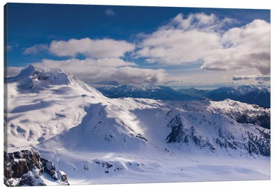 Aerial View, Coast Mountains, British Columbia, Canada Canvas Art Print