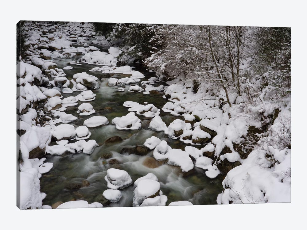 Long Exposure Of River In Winter In Squamish, British Columbia, Canada by Kristin Piljay 1-piece Art Print