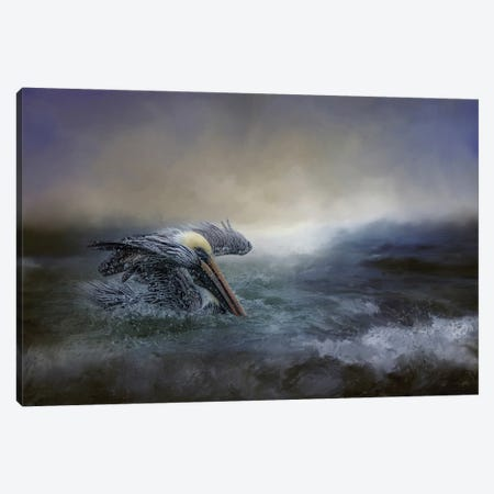 Fishing In The Storm Canvas Print #KPK41} by Kelley Parker Canvas Wall Art
