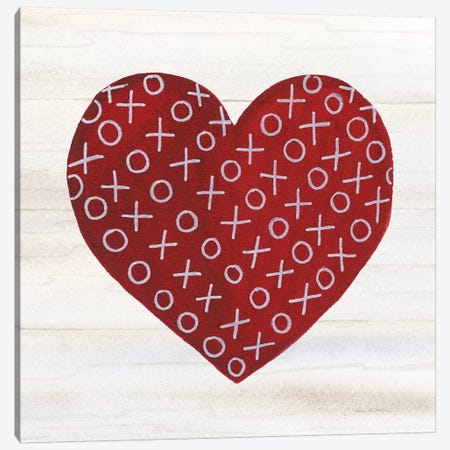 Rustic Valentine Heart IV 3-Piece Canvas #KPM10} by Kathleen Parr McKenna Canvas Print
