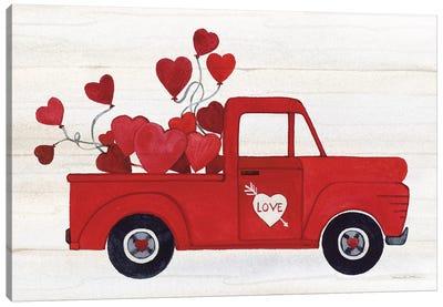 Rustic Valentine Truck Canvas Art Print