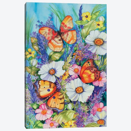 Butterfly Garden Canvas Print #KPM16} by Kathleen Parr McKenna Canvas Artwork