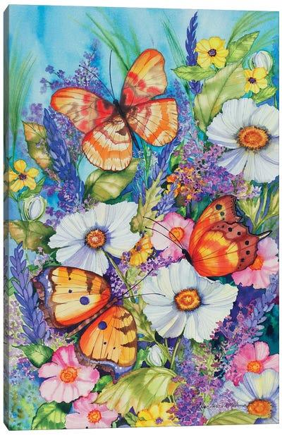 Butterfly Garden Canvas Art Print