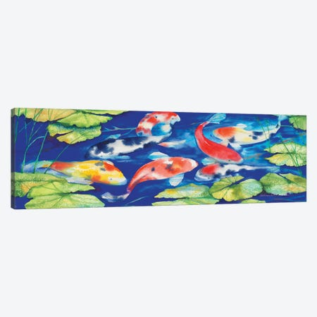 Koi Canvas Print #KPM17} by Kathleen Parr McKenna Canvas Wall Art