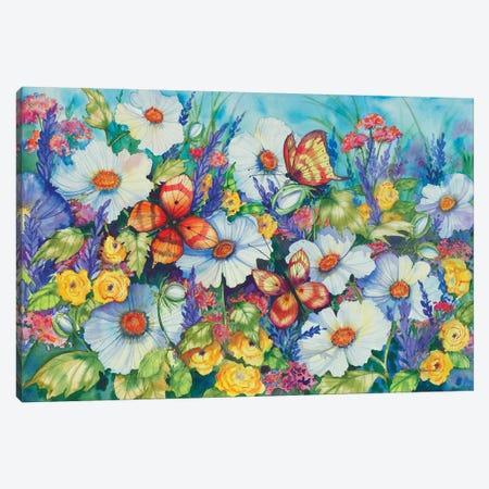 Sweetly Succulent Canvas Print #KPM22} by Kathleen Parr McKenna Canvas Artwork