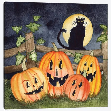 Haunting Halloween Night I Canvas Print #KPM24} by Kathleen Parr McKenna Art Print