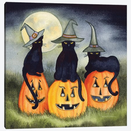 Haunting Halloween Night II Canvas Print #KPM25} by Kathleen Parr McKenna Canvas Print