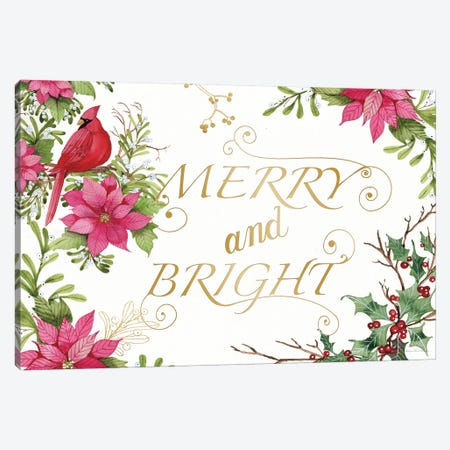 Holiday Happiness VIII Canvas Print #KPM30} by Kathleen Parr McKenna Art Print