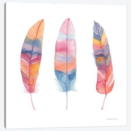 Boho Feathers I Canvas Print #KPM31} by Kathleen Parr McKenna Canvas Art Print
