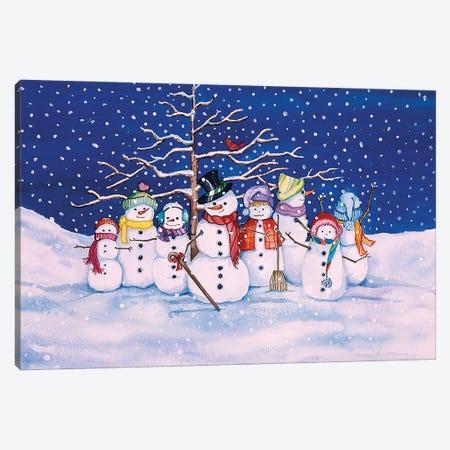 Snow Family Canvas Print #KPM36} by Kathleen Parr McKenna Canvas Artwork