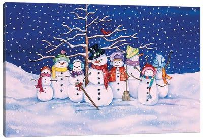 Snow Family Canvas Art Print