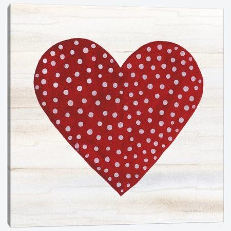 Rustic Valentine Heart I 3-Piece Canvas #KPM8} by Kathleen Parr McKenna Canvas Art Print