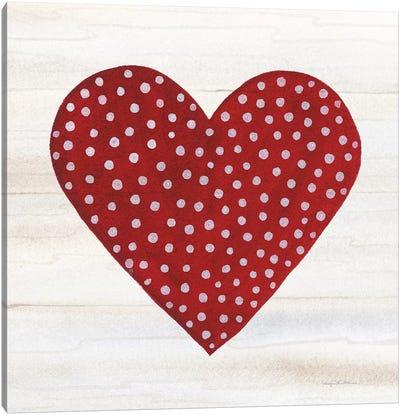 Rustic Valentine Heart I Canvas Art Print