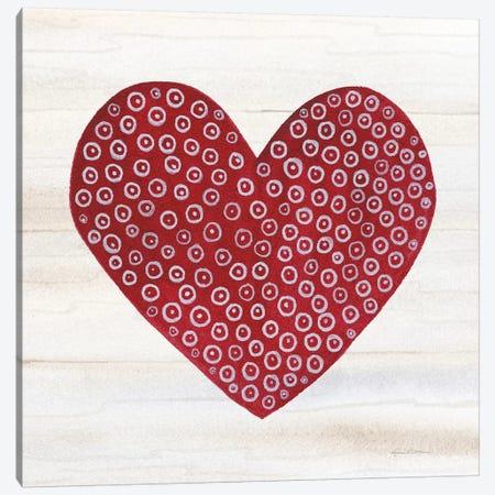 Rustic Valentine Heart III 3-Piece Canvas #KPM9} by Kathleen Parr McKenna Canvas Art Print
