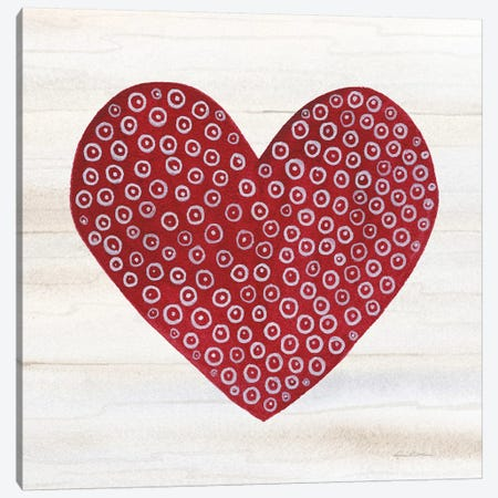 Rustic Valentine Heart III Canvas Print #KPM9} by Kathleen Parr McKenna Canvas Art Print