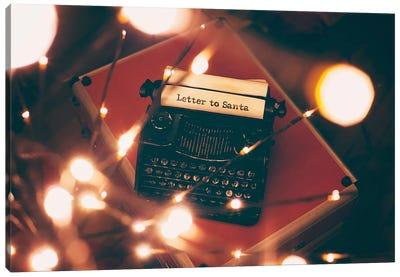 Letter to Santa Canvas Art Print